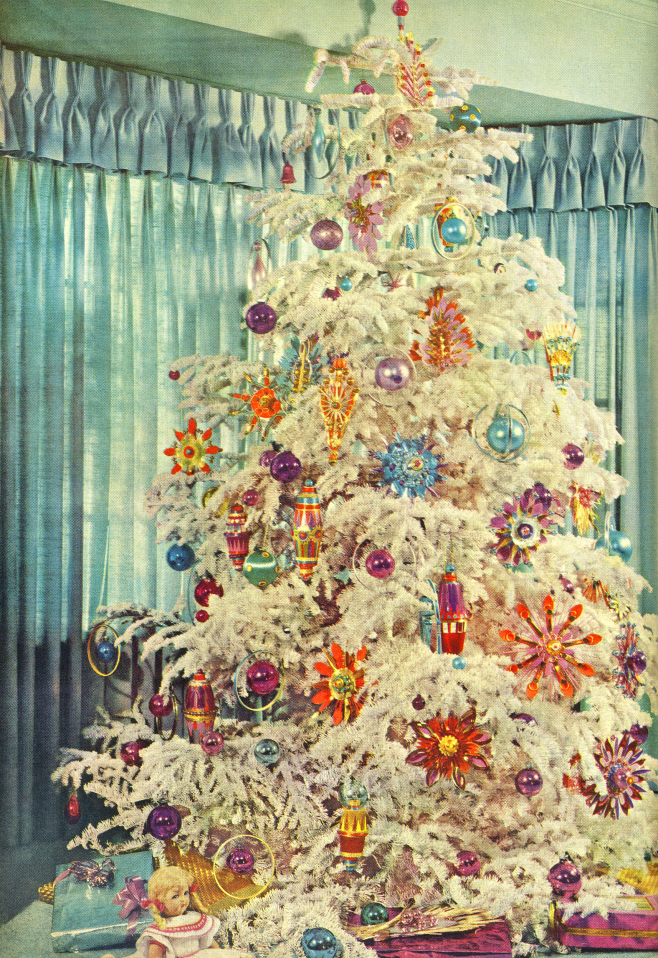 amazing tree use christmas white ornaments presents doll blue