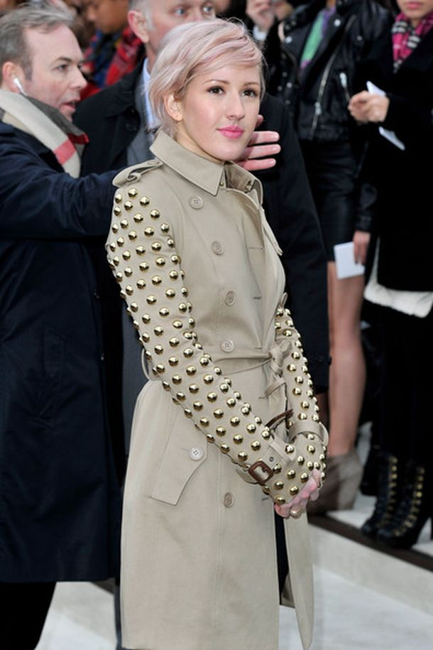 Ellie+Goulding+Outerwear+Trenchcoat+Tk5YoCsuh_Ul