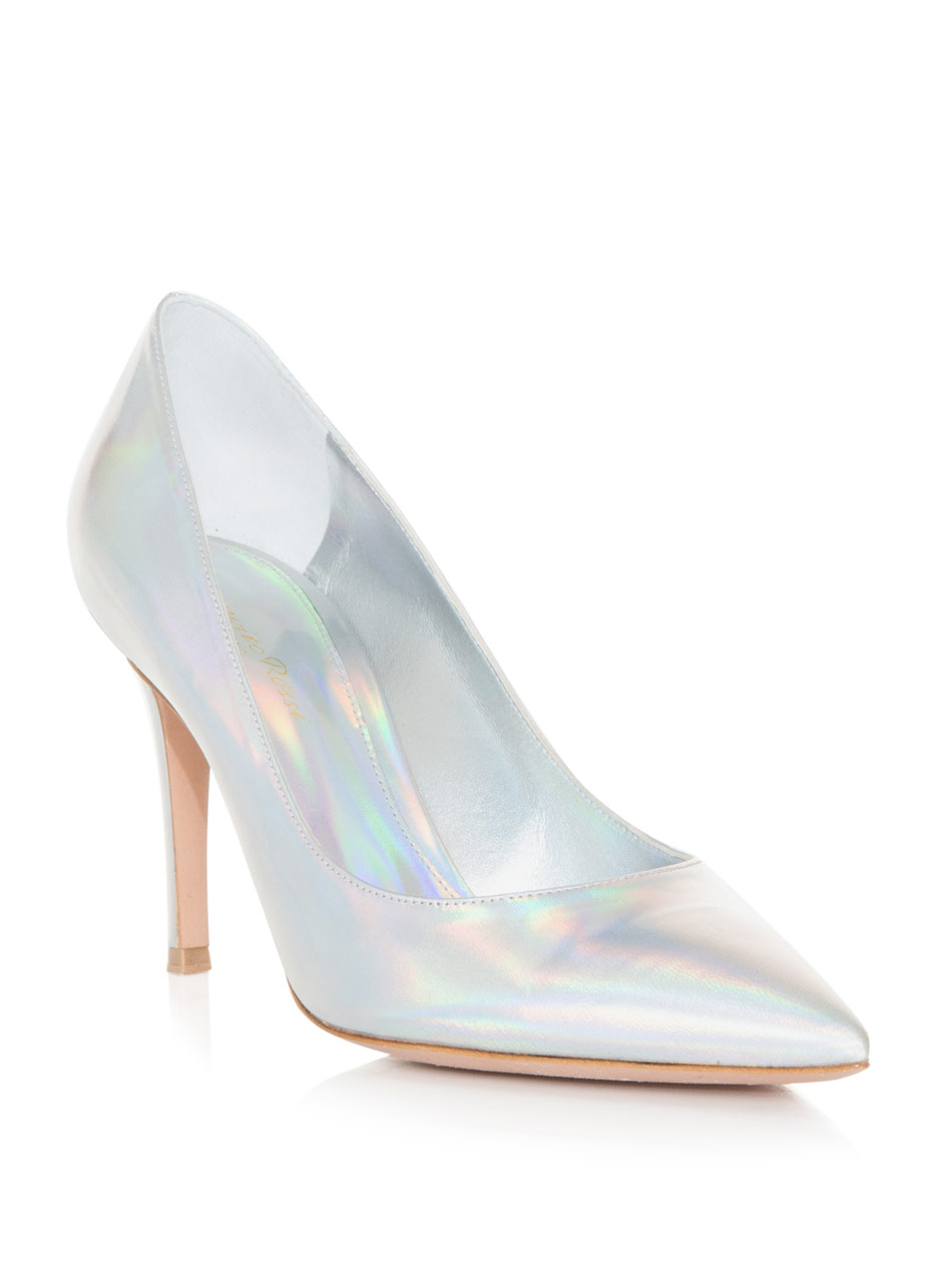GIANVITO ROSSI - Hologram point-toe shoes (1)