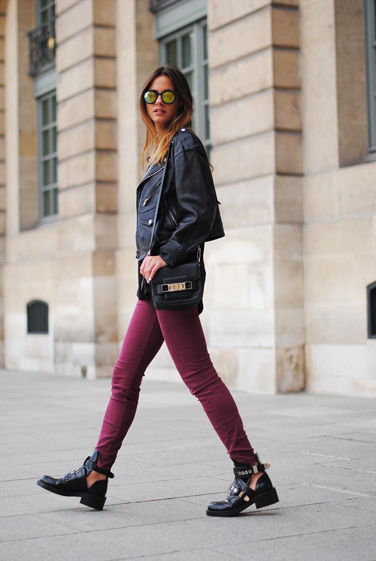 balenciaga boots, paris, 7 for all kindman, jeans, burgundy, august